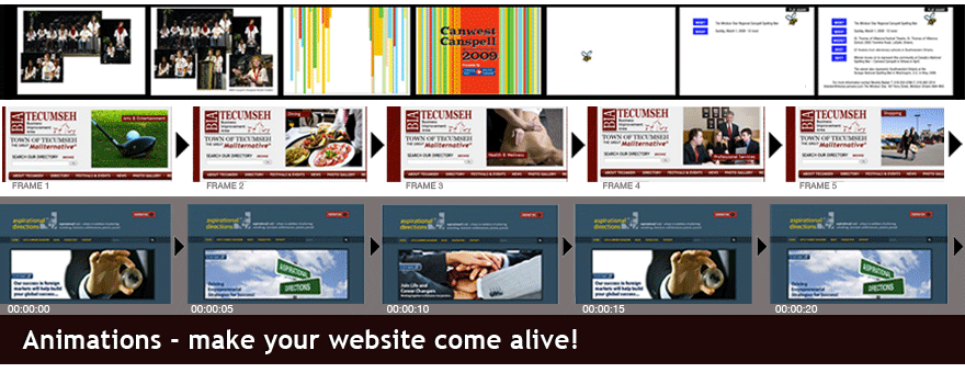 Windsor Website Design dot com Animations